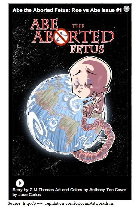ABE the Aborted Fetus Comic Book