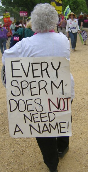 An Unborn Baby Is Not A Sperm!