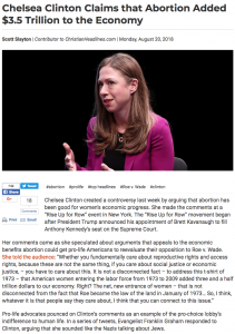 Chelsea Clinton, abortion,